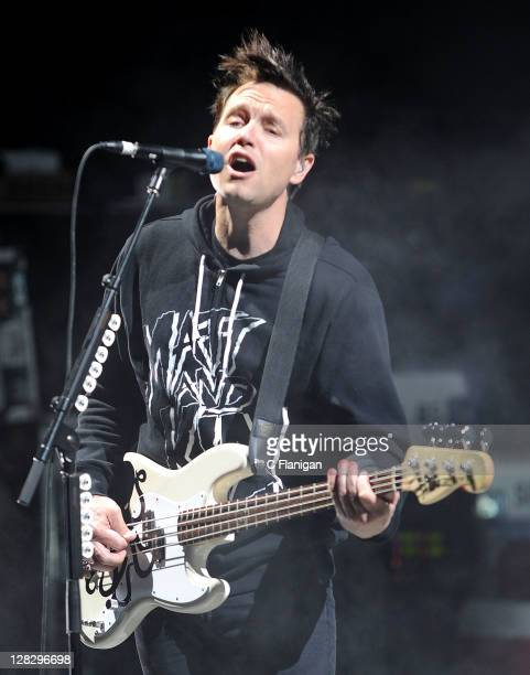 Mark Hoppus of Blink-182 performs during the 2011 Honda Civic Tour at Shoreline Amphitheatre on October 5, 2011 in Mountain View, California.