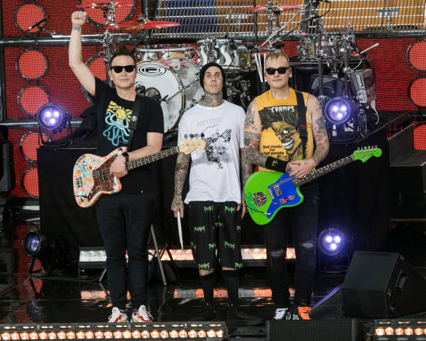"""NY: Blink-182 Performs On ABC's """"Good Morning America"""""""