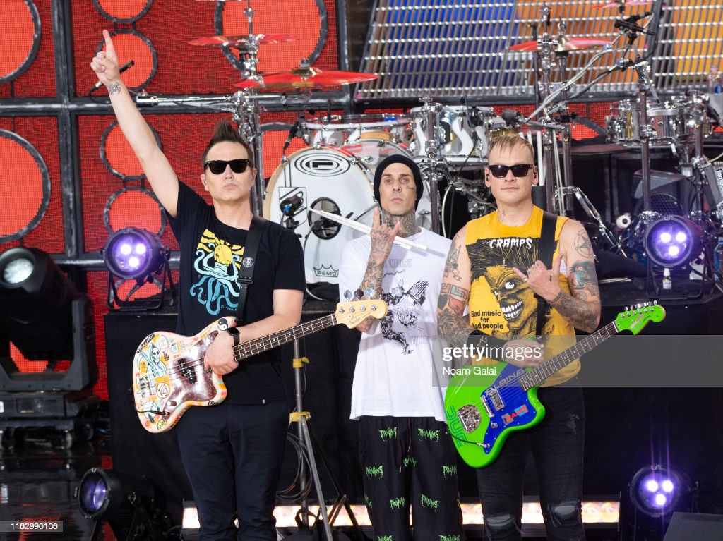 "Blink-182 Performs On ABC's ""Good Morning America"" : Foto jornalística"