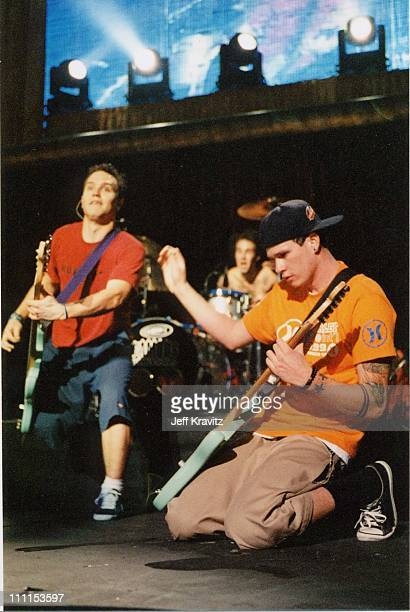 Mark Hoppus Travis Barker and Tom DeLonge of Blink 182