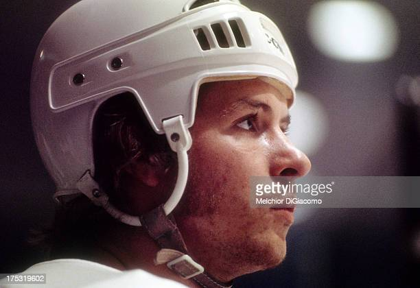 Mark Howe of the Houston Aeros looks on during a WHA game circa 1975 at the Summit in Houston Texas