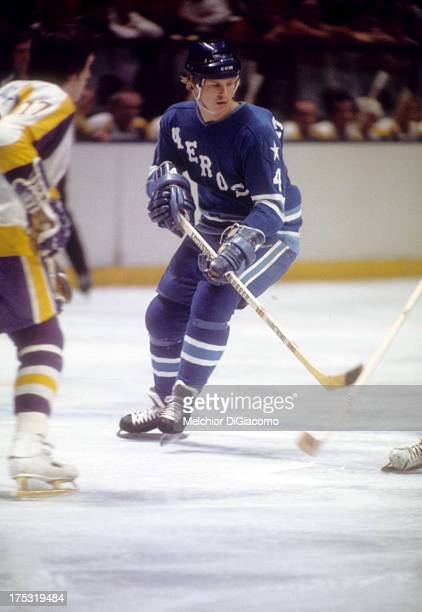 Mark Howe of the Houston Aeros skates on the ice during a WHA game circa 1975