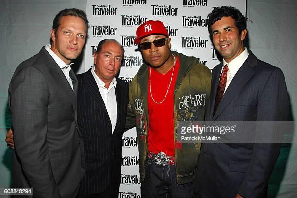 Mark Hruschka, Jim Kerwin, LL Cool J and Drew Katz attend CONDE NAST TRAVELER Readers' Choice Awards & 20TH Anniversary Party at Cooper-Hewitt...