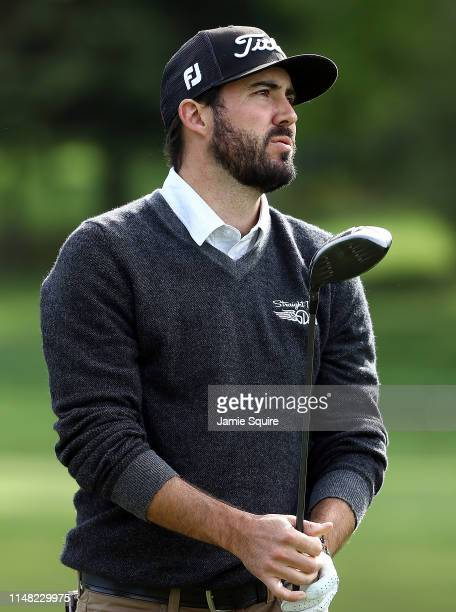 Mark Hubbard hits his first shot on the 17th hole during the second round of the Webcom Tour KC Classic on May 10 2019 in Kansas City Missouri
