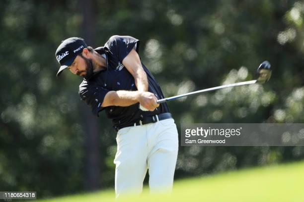 Mark Hubbard of the United States plays his shot from the sixth tee during the third round of the Houston Open at the Golf Club of Houston on October...