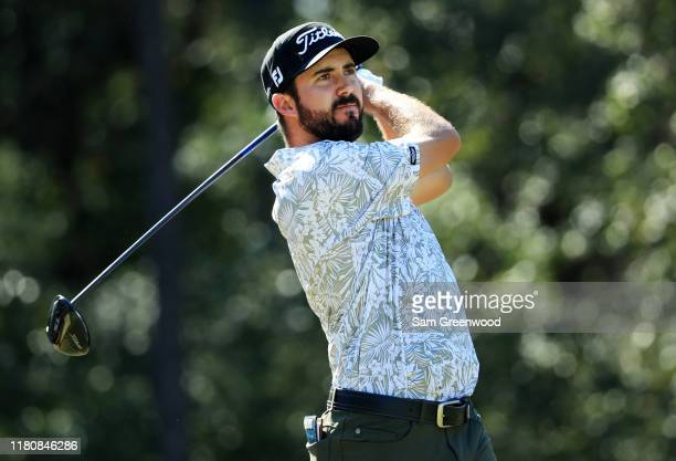 Mark Hubbard of the United States plays his shot from the sixth teeduring the final round of the Houston Open at the Golf Club of Houston on October...