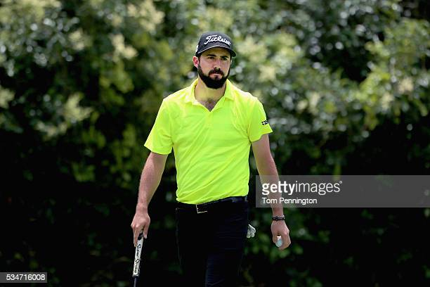 Mark Hubbard prepares to tee off on the 11th hole during the Second Round of the DEAN DELUCA Invitational at Colonial Country Club on May 27 2016 in...