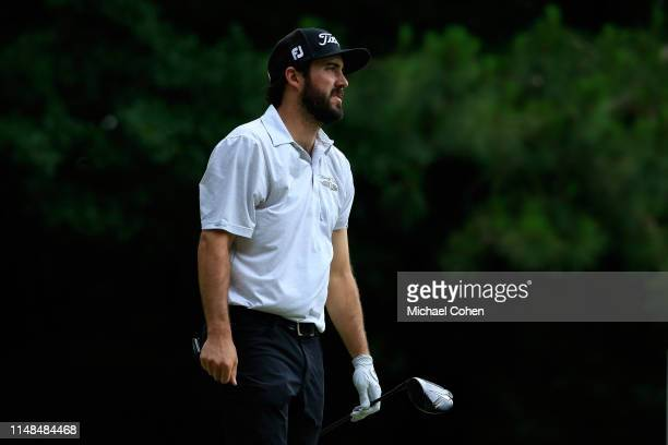 Mark Hubbard watches his drive on the second hole during the second round of the BMW Charity ProAm presented by SYNNEX Corporation held at Thornblade...