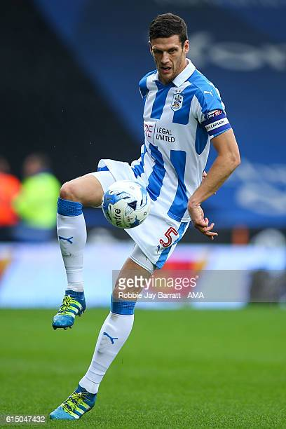 Mark Hudson of Huddersfield Town during the Sky Bet Championship match between Huddersfield Town and Sheffield Wednesday at John Smith's Stadium on...