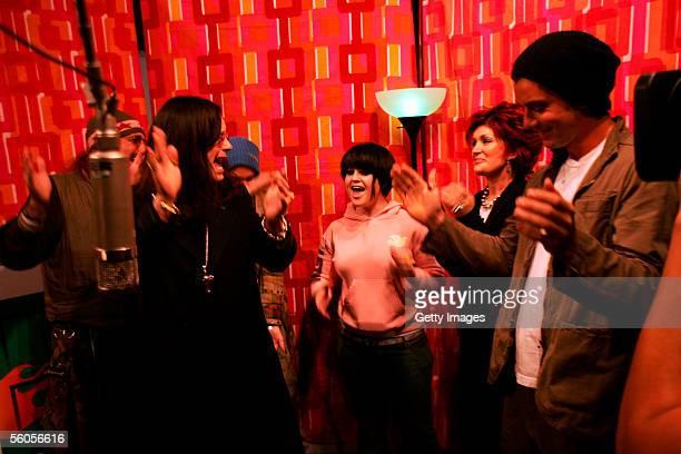 Mark Hudson Ozzy Osbourne Gwen Stefani Kelly Osbourne Sharon Osbourne and Gavin Rossdale record the Tsunami relief charity single a cover of the Sir...