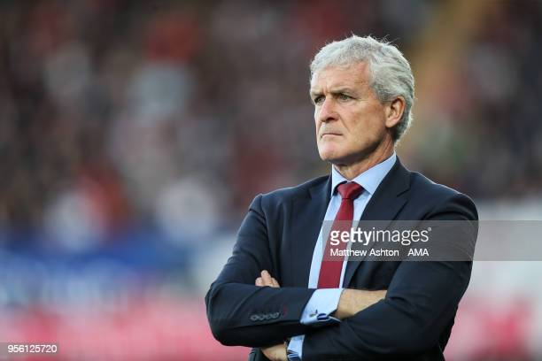 Mark Hughes head coach / manager of Southampton during the Premier League match between Swansea City and Southampton at Liberty Stadium on May 8 2018...