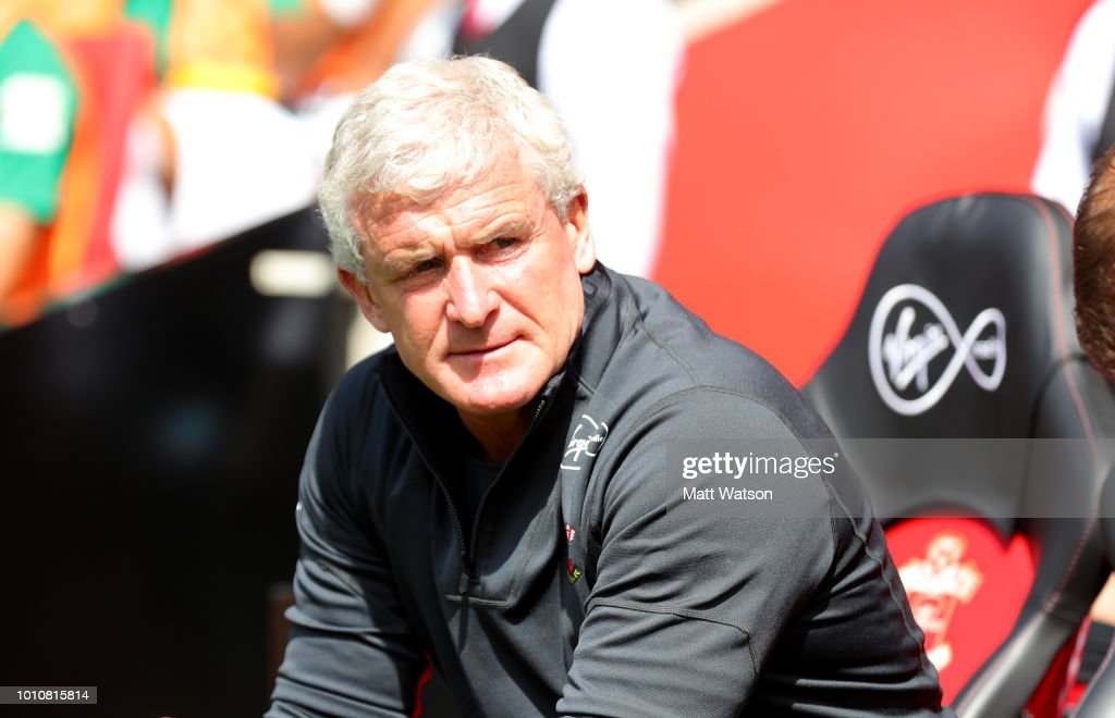 Mark Hughes manager of Southampton during the pre-season friendly match between Southampton and Borussia Monchengladbach at St Mary's Stadium on August 4, 2018 in Southampton, England.