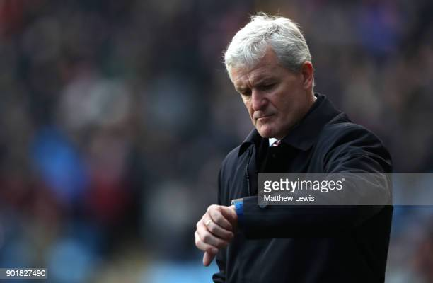 Mark Hughes Manager of Stoke City during the The Emirates FA Cup Third Round match between Coventry City and Stoke City at Ricoh Arena on January 6...