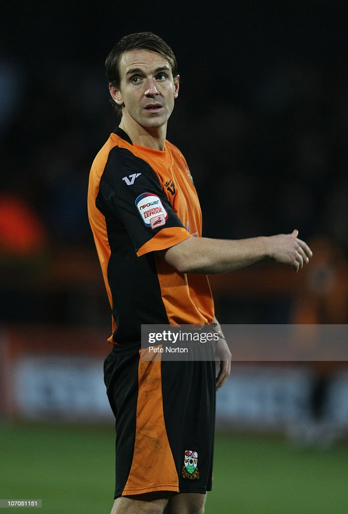 Mark Hughes of Barnet in action during the npower League Two match between Barnet and Northampton Town at Underhill Stadium on November 20, 2010 in Barnet, England