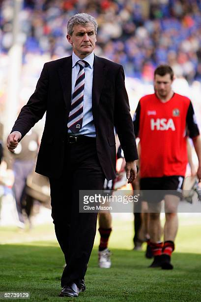Mark Hughes of Blackburn Rovers walks off the pitch at the end of the Barclays Premiership match between Birmingham City and Blackburn Rovers at St...