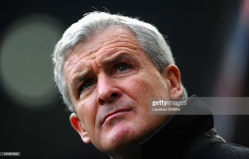 Mark Hughes of Queens Park Rangers takes to the bench for his first game in charge during the Barclays Premier League match between Newcastle United and Queens Park Rangers at Sports Direct Arena on January 15, 2012 in Newcastle upon Tyne, England.