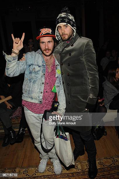 Mark Hunter aka the Cobra Snake and Actor and Musician Jared Leto attendsErin Wasson RVCA Fall 2010 during MercedesBenz Fashion Week at ABC Carpet on...