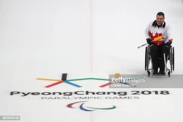 Mark Ideson of Canada looks on during the Curling Mixed Bronze Medal match between South Korea and Canada during day eight of the PyeongChang 2018...