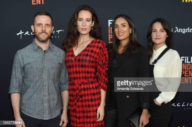 "Mark Jackson, Dana Thompson, Sarah Kazemy and Gigi Graff attend the Closing Night Screening of ""Nomis"" during the 2018 LA Film Festival at ArcLight..."
