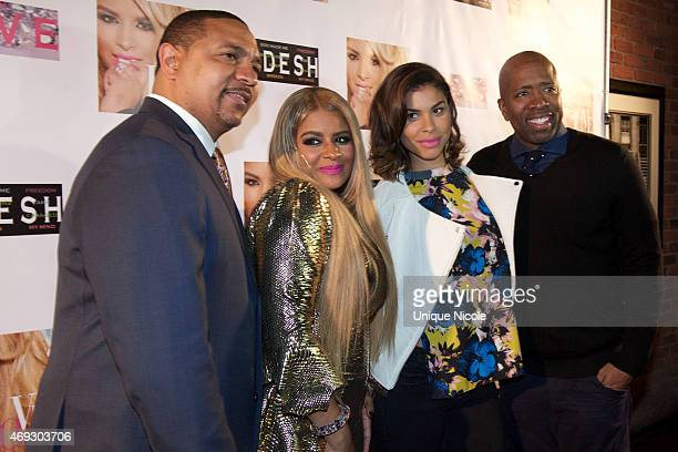 Mark Jackson Desiree Coleman Gwendolyn OsborneSmith and Kenny Smith attend the Private Listening Party For Kadesh aka Desiree Coleman Jackson Hosted...