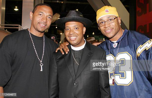 Mark Jackson Reverend Run and LL Cool J during 2003 Magic Marketplace Convention in Las Vegas Day Two in Las Vegas Nevada United States