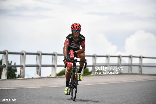Mark John Lexer Galedo of Philippines and 7 Eleven Roadbike Philippines competes during stage 1 of the Tour de Singkarak 2017 Tanah DatarPadang 1093...