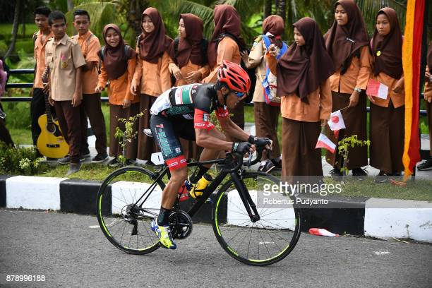 Mark John Lexer Galedo of Philippines and 7 Eleven Roadbike Philippines competes during stage 8 of the Tour de Singkarak 2017 Padang PariamanAgam...