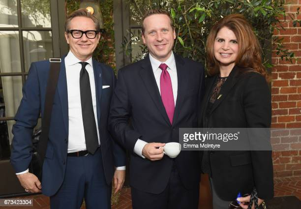 Mark Johnson Crockett Woodruff and Denise Colletta attend The Hollywood Reporter Power Lawyers Breakfast 2017 at Spago on April 26 2017 in Beverly...
