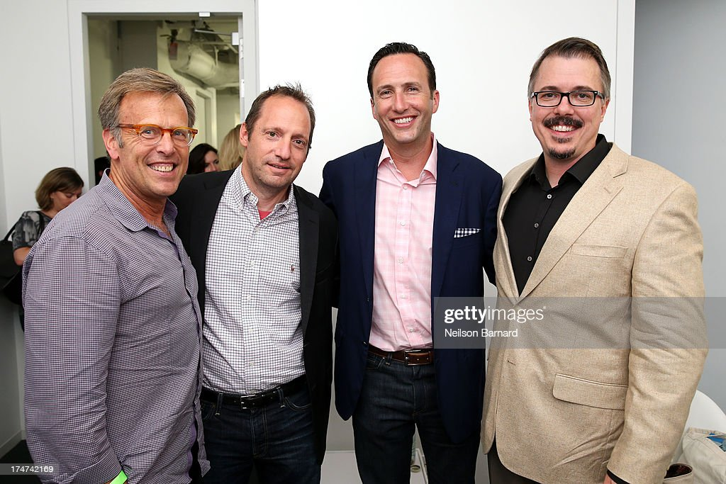 Mark Johnson, Ed Carroll, Charlie Collier and Vince Gilligan attend Making Bad: An Evening with Vince Gilligan at Museum of Moving Image on July 28, 2013 in New York City.