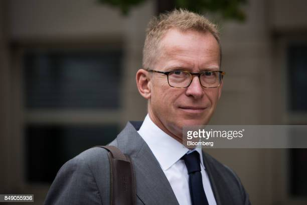 Mark Johnson former head of global foreign exchange for HSBC Holdings Plc exits federal court in the Brooklyn borough of New York US on Monday Sept...