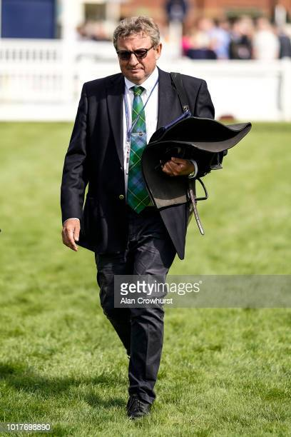 Mark Johnston poses at Salisbury Racecourse on August 16 2018 in Salisbury United Kingdom