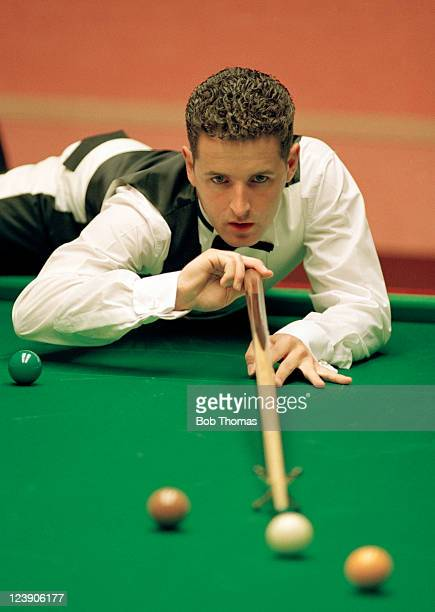 Mark JohnstonAllen of England playing in the World Snooker Championship at the Crucible in Sheffield circa April 1992