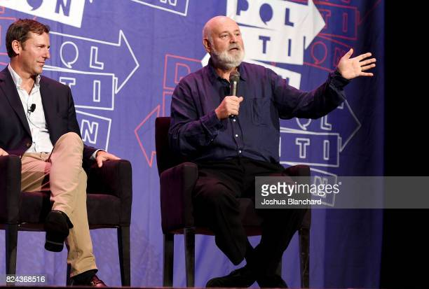 Mark K. Updegrove and Robert Reiner at 'LBJ' panel during Politicon at Pasadena Convention Center on July 29, 2017 in Pasadena, California.