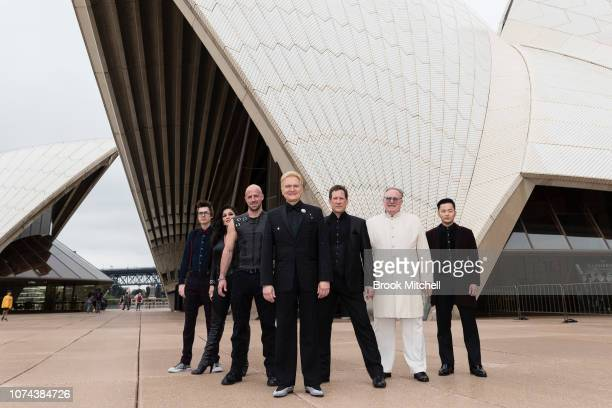 Mark Kalin Jinger LeighJeff Robson Kevin James Johnathon Goodwin and An Ha Lim are pictured during a media call for The Illusionists Direct From...