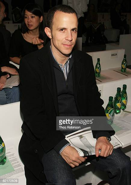 Mark Karimzadeh attends the Jeffrey Chow Fall 2005 fashion show during the Olympus Fashion Week at Bryant Park February 10 2005 in New York City
