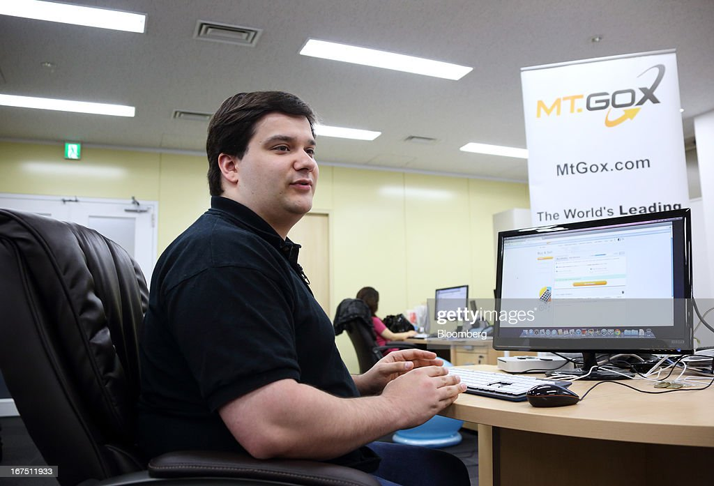 Mark Karpeles, chief executive officer of Tibanne Co., works at his desk in the office operating the Mt.Gox K.K. bitcoin exchange in Tokyo, Japan, on Thursday, April 25, 2013. Bitcoin digital currency, which carries the unofficial ticker symbol of BTC, was unveiled in 2009 by an unidentified programmer, or group of programmers, under the name of Satoshi Nakamoto. Supply is capped at 21 million Bitcoins and managed by a software algorithm embedded into the digital currency's design, rather than a monetary authority such as a central bank. Photographer: Tomohiro Ohsumi/Bloomberg via Getty Images