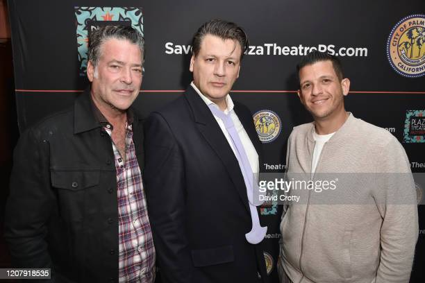 Mark Kearney Rodrigo Basilicati Cardin and Shaun Paul Martin attend the House Of Cardin Special Screening At Palm Springs Modernism Week at The Plaza...