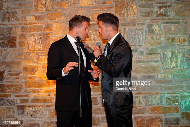 Mark Keller and Aaron Keller during the Kempinski Hotel Berchtesgaden opening party on May 8 2015 in Berchtesgaden Germany