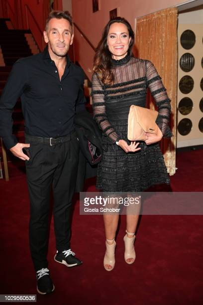 Mark Keller and Sarah Maria Besgen during the 100th bitrhday celebration gala for Artur Brauner at Zoo Palast on September 8 2018 in Berlin Germany...