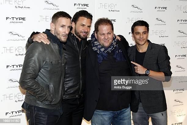 Mark Keller, Stephan Luca, director Mayk Azzato and Kostja Ullmann attend the Jaguar F-Type commercial short movie 'The Key' premiere at e-Werk on...