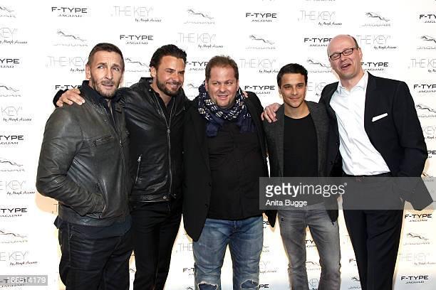 Mark Keller, Stephan Luca, director Mayk Azzato, Kostja Ullmann and Alex Eckeattend the Jaguar F-Type commercial short movie 'The Key' premiere at...