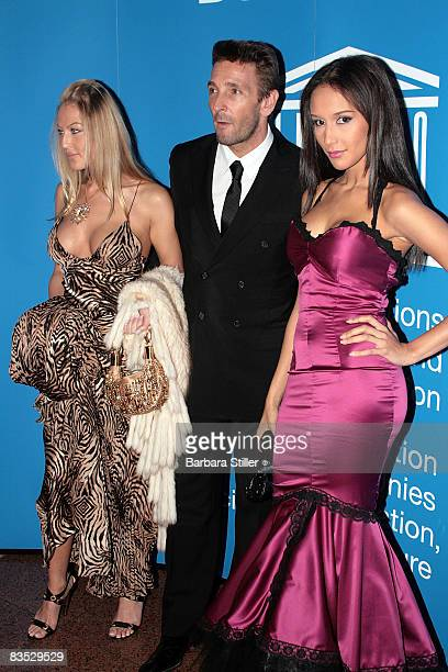 Mark Kellerand friends attend the UNESCO Benefit Gala for Children 2008 at Hotel Maritim on November 1 2008 in Cologne Germany