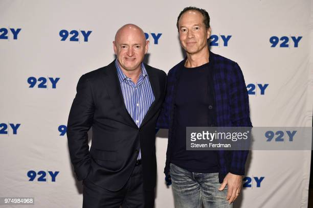 Mark Kelly and Barry Rosenstein pose for a photo ahead of Mark Kelly In Conversation With Samantha Bee at 92Y on June 14 2018 in New York City