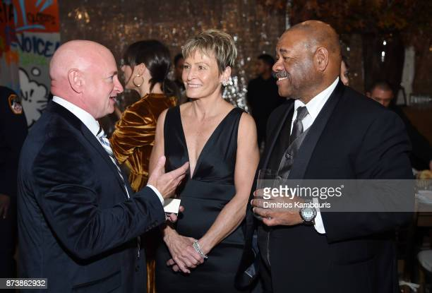 Mark Kelly and Peggy Whitson attend Glamour's 2017 Women of The Year Awards at Kings Theatre on November 13 2017 in Brooklyn New York