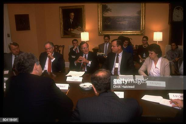 Mark Kilroy's parents w Pres Bush Educ Secy Cavazos mtg at WH re drug related cult murder of their son nr Matamoros
