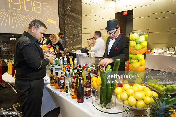 Mark Kinzer and Julio Cabrera attends Ocean Drive Remy Cointreau Mixology contest at W South Beach Hotel Residences on September 24 2012 in Miami...