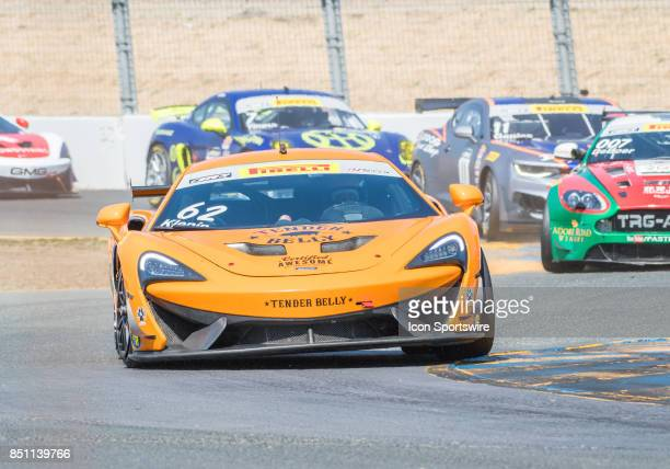 Mark Klenin KPR negotiates his McLaren 570S GT4 through turn 9 during the World Challenge GTS Race at the Verizon Indycar Series GoPro Grand Prix of...