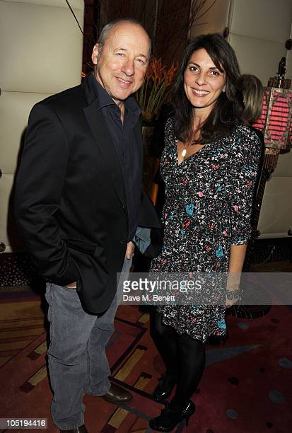 Mark Knopfler and Gina Bellman attend the launch of Salman Rushdie's new childrens book 'Luka and the Fire of Life' on October 11 2010 in London...