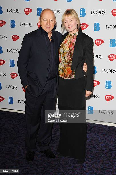 Mark Knopfler and his wife Kitty Aldridge attend the Ivor Novello Awards 2012 at Grosvenor House on May 17 2012 in London England