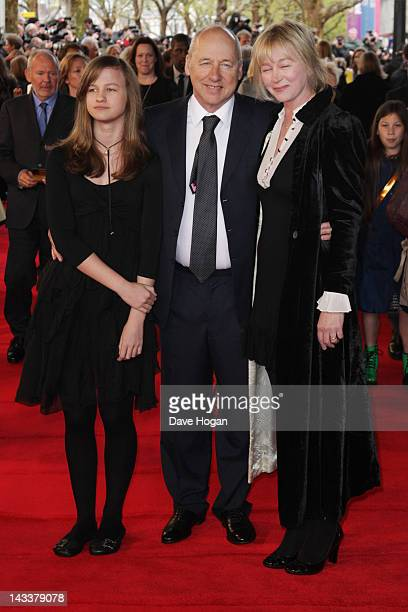Mark Knopfler and his wife Kitty Aldridge attend the UK premiere of African Cats in aid of Tusk at The BFI Southbank on April 25 2012 in London...